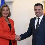 Nakon preporuke Komisije za otvaranje pregovora o pridruživanju #EUintegracije sa BJR Makedonijom, visoka predstavnica EU @FedericaMog je u Skoplju. Opširnije 👉 https://t.co/YNXP3xXRpv
