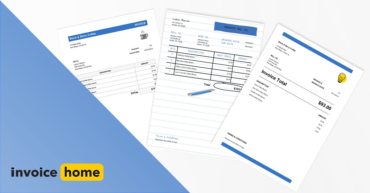 invoice home on twitter into blue check out the different