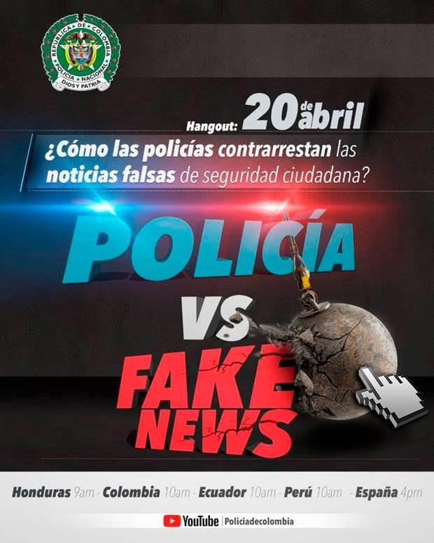 Estamos en #vivo #PoliciasVsFakeNews aqu...