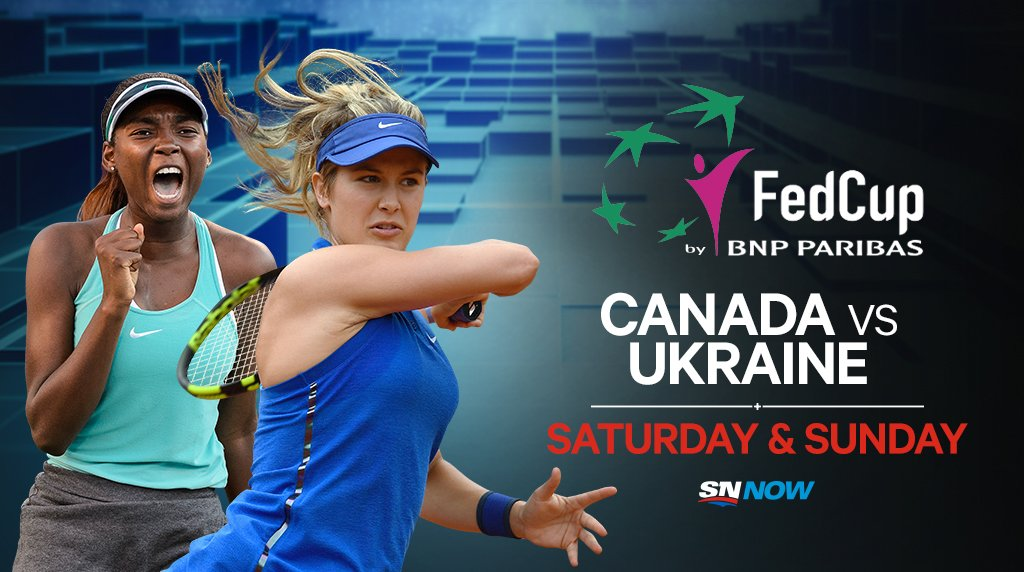 THIS WEEKEND: Genie Bouchard returns to #FedCup play as Team Canada takes on Ukraine in Montreal.  💻 WATCH all the action exclusively on SN NOW: Saturday @ 1 p.m. ET Sunday @ 12 p.m. ET  https://t.co/ETIwdTfibS