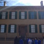 Image for the Tweet beginning: Visiting Lincoln's home #7thGrade #SpringfieldTrip