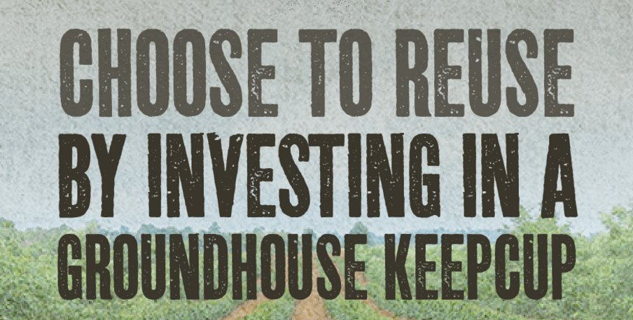 One year ago we launched the Groundhouse Keep Cup. Making sure we do the best we can to reduce the amount of disposable cups used. #ChooseToReuse #Sustainability <br>http://pic.twitter.com/aD4QeC61S2