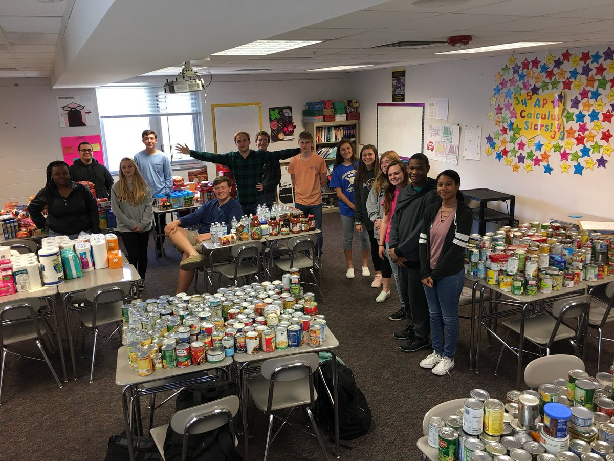 Drum roll please......the final total of the food drive came out to 1,331That's more than one can per student!! Thanks to all those who donated, and helped make a difference in our community.  #WhatStartsHereChangesEverything #NationalVolunteerWeek  @WCPSS  @eastwakehs<br>http://pic.twitter.com/vSg3bjOxt6