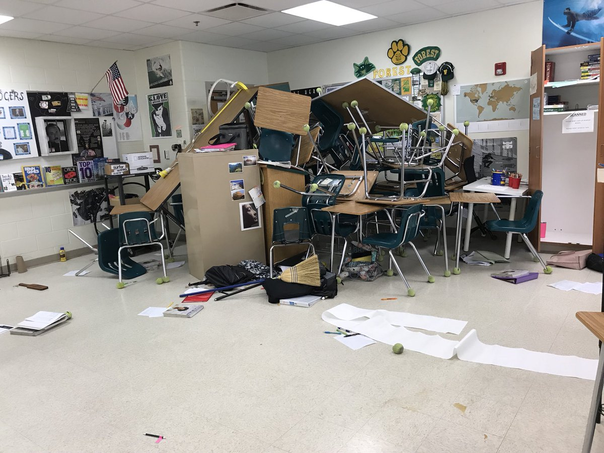 #NationalWalkoutDay  Actual photo of what I, my teacher and a few other proactive students took action to do during our shooting. We weren't going down without a fight. #NationalWalkoutDay <br>http://pic.twitter.com/nxU2xosrbI