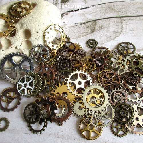 (。◕‿◕。) sur @ungrandmarche lot engrenages Steampunk https://t.co/5P0iljfKWM #steampunk #bijoux