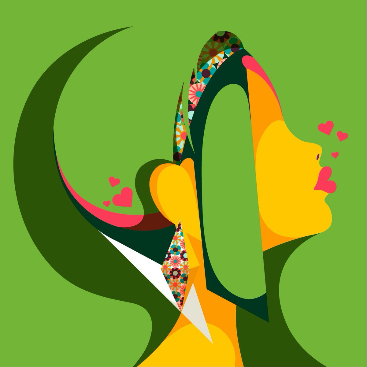 Green Kisses #colour_collective #peagreen #retro #illustration #freelance #portrait<br>http://pic.twitter.com/03RlbVpT76