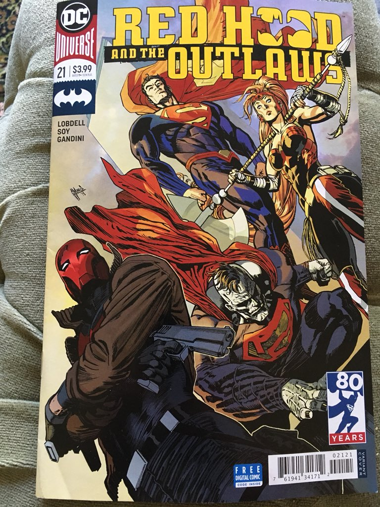 Today's comic is #RedHoodandtheOutlaws ,by @ScottyLobdell and @dextersoy ,@DCComics .A really solid comic,also like the dynamic of the Outlaws.#DCUniverse #RHO #RedHood #Bizarro #LadyArtemis #Comicbook #Comics .<br>http://pic.twitter.com/yKWeg4oLUm