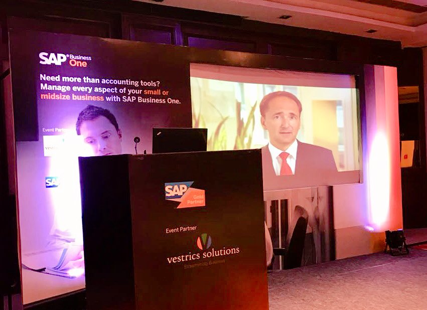 Flash News!! @vestricspvtltd #SME event kickstarted at #Visakhapatnam ; Jam packed audience showing lot of interest in latest #SAPBusinessOne powered #ERP solutions from the partner; #LiveDemo is on. @ItsSivaPolu @mukku_madhu @rohithasri @SAPIndia #SAP #BharatERP #innovation<br>http://pic.twitter.com/IkIqXMeAOm