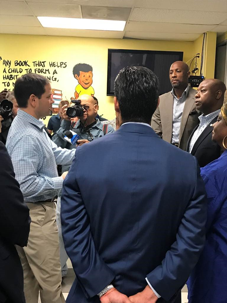.@SenatorTimScott and I had a great visit to the @OYCMiami in #Miami #Florida today, where we talked about a provision in the new tax code that will help bring opportunity to communities that need it most. #IIOA #Sayfie<br>http://pic.twitter.com/9aVUsSJdjd