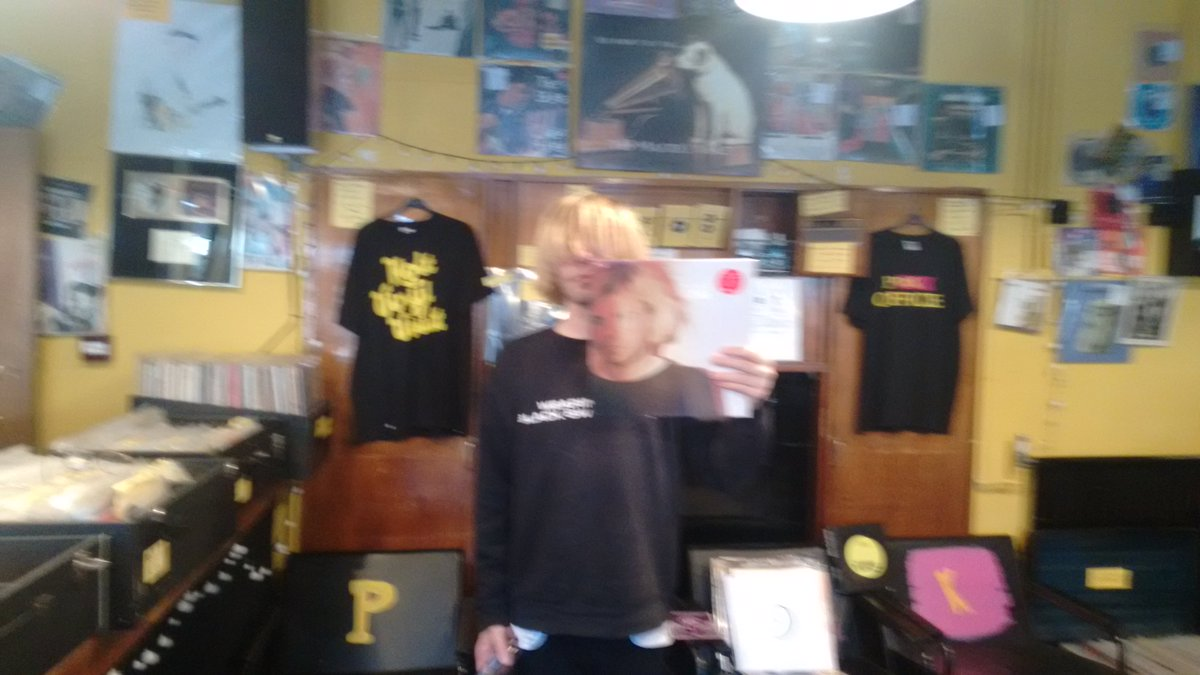 Thanks to @Tim_Burgess for popping in ahead of @RSDUK tomorrow! Open 8 till 8, with DJs & live music all day. Be seeing you.