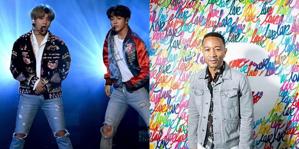 John Legend notices and 'likes' #BTS V and Jungkook's cover of 'All of Me' https://t.co/7UbgwdN9wx