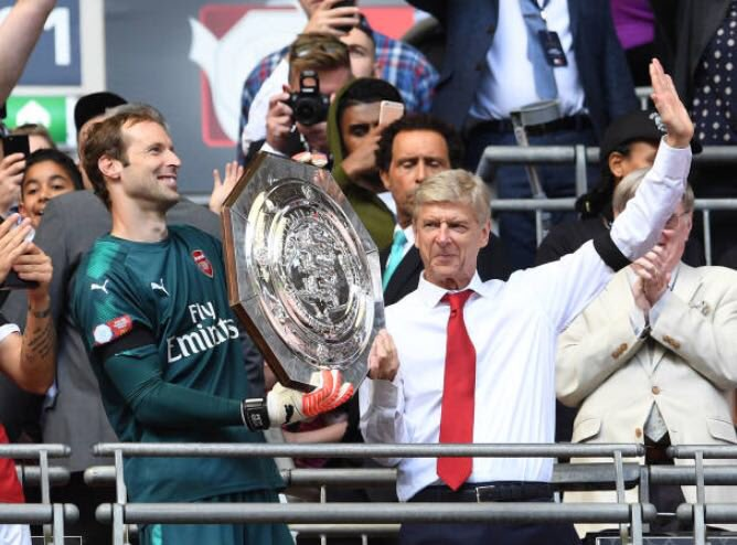 After the big news today it's an opportunity for all the Gunners to show the love and appreciation to the man who created huge part of the history and legacy of @Arsenal and hopefully will leave with another trophy in his hands! Up to all of us to make it happen . #COYG