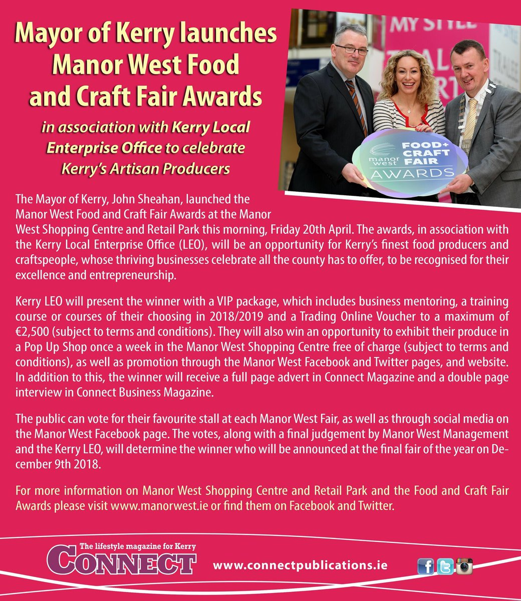 0b83c4b1e5c94 Mayor of Kerry launches Manor West Food and Craft Fair Awards in  association with Kerry Local Enterprise Office to celebrate Kerry's Artisan  Producers . ...