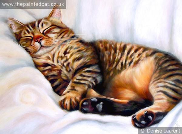 After The Hunt, a tired tabby taking a nap #cats #tabbycat #catsoftwitter #catart #print  http:// bit.ly/2us3B2e  &nbsp;  <br>http://pic.twitter.com/u1A95ktLm2