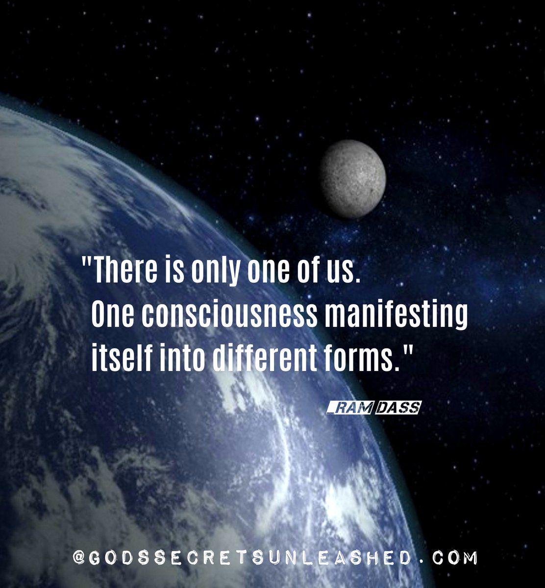 &quot;There is only one of us. One consciousness manifesting itself into different forms.&quot;_Ram Dass #universal #consciousness #Oneness #awareness #awakening #Love #Light #enlightenment #spirituality<br>http://pic.twitter.com/6Dz9Xt49WK