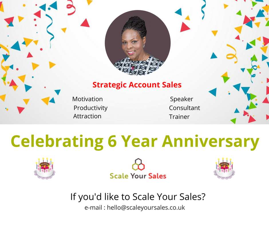 #Celebrating our 6th Year Anniversary: #Speaking, #Consulting and #Training Companies to #ScaleYourSales. @janicebg and her Associates would like to thank our #customers and #supporters for their #trust.<br>http://pic.twitter.com/un3VUZmNB9