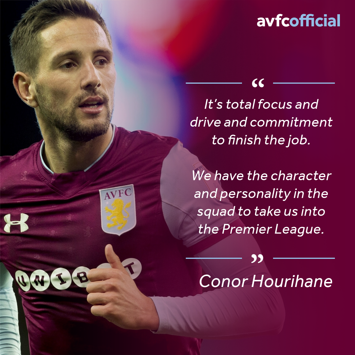 💬👊 @ConorHourihane: I have big faith in this team to deliver when it matters  #PartOfThePride #AVFC