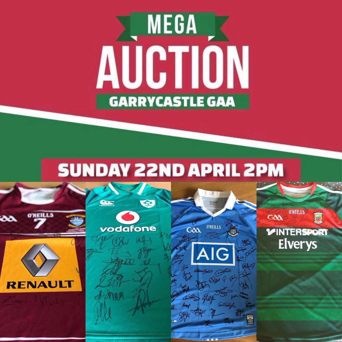 b80d0eff96e ... have an Ireland rugby Grand slam winning jersey signed, a Dublin jersey  signed & lots more... If interested in putting a reserve price on any -  send me ...
