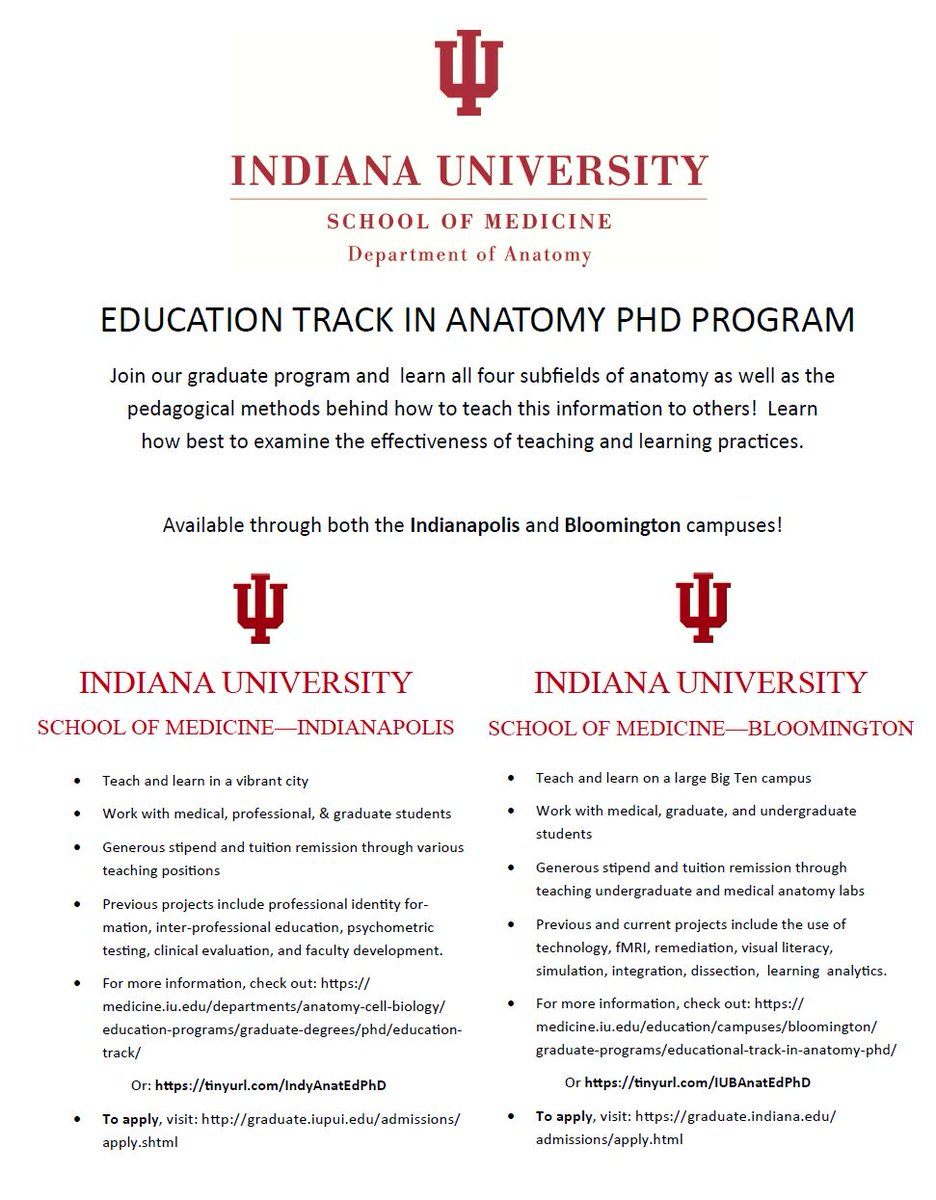 Iub Anatomy Education Phd Program On Twitter Want To Learn More