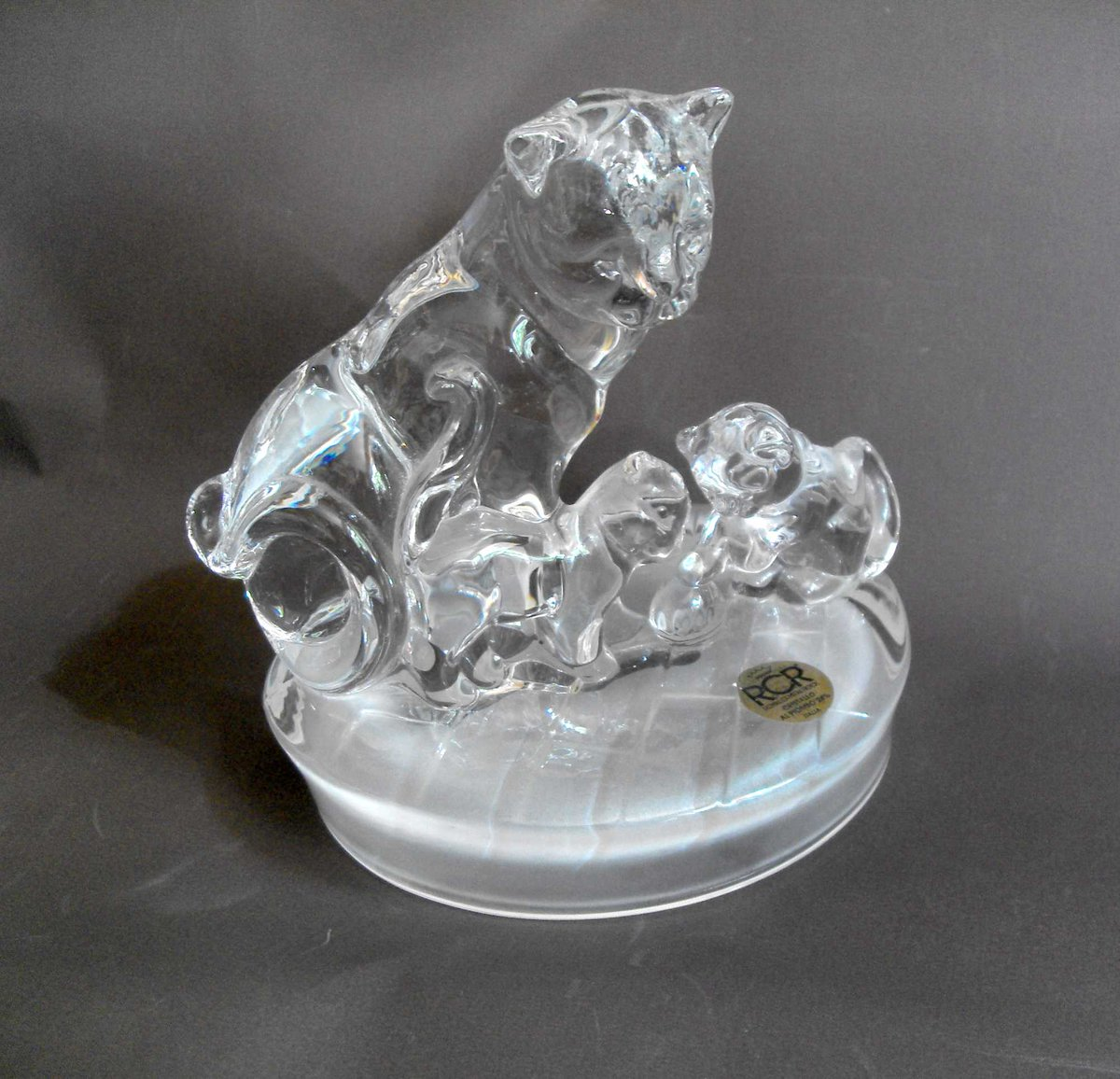 Large Italian RCR #crystal cat/kittens desk weight  Reasonable Offers considered Free UK Shipping #InspectAndCollect   http:// carterscollectablesuk.co.uk/Crystal-cat-/- kitten-deskweight &nbsp; …  #CCUK4S #antiqueclique #cats #desktop #kittens #pets #animals #ArtGlass #glass #retro #eShopsUK #noths #giftideas<br>http://pic.twitter.com/C8blMXbPio