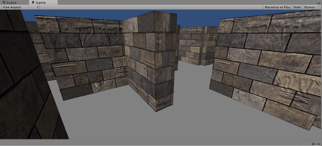 So here is the #labyrinth i am working on with brick texture, still not sure is i want it like this, still need a other ground! Oh and i need cookies for @fritztalgia    #madewithunity  #unity #unity3d #gamedev #indiedev<br>http://pic.twitter.com/TfCF8uDyhu