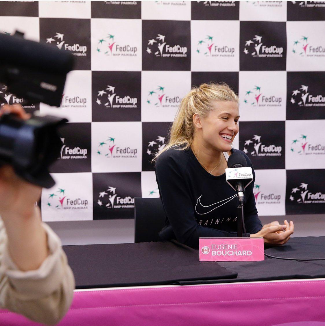 Genie Bouchard's photo on Fed Cup