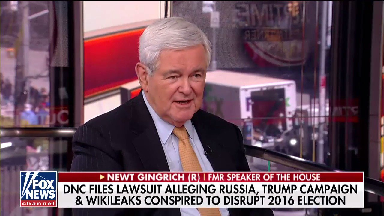 .@newtgingrich: 'It's clear that [@HillaryClinton] broke the law over and over and over again.' #OutnumberedOT https://t.co/fD2eHa44br