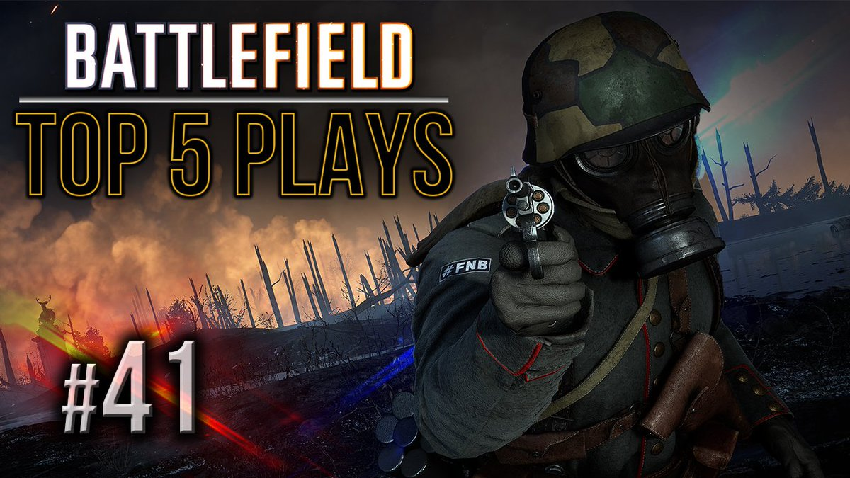 #Battlefield Top 5 Plays Episode 41! Enjoy and don&#39;t forget to submit your clip! :)  Link:  https://www. youtube.com/watch?v=n2MnKm adptE&amp;t &nbsp; …   Beautiful Artwork: @Chris177uk   #Battlefield1 #BF1 #YouTube <br>http://pic.twitter.com/unlXQMDBfb