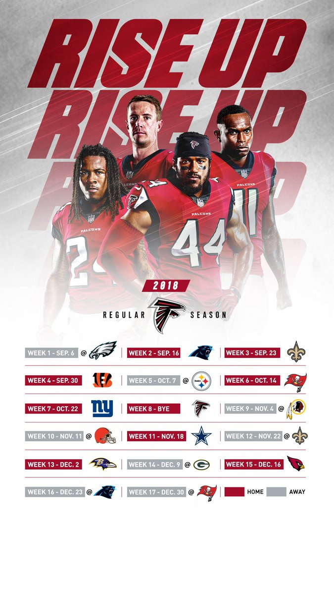 "atlanta falcons on twitter: ""new schedule, new wallpaper 📲… """