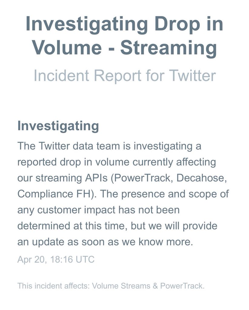 More details about Twitter being down for some users