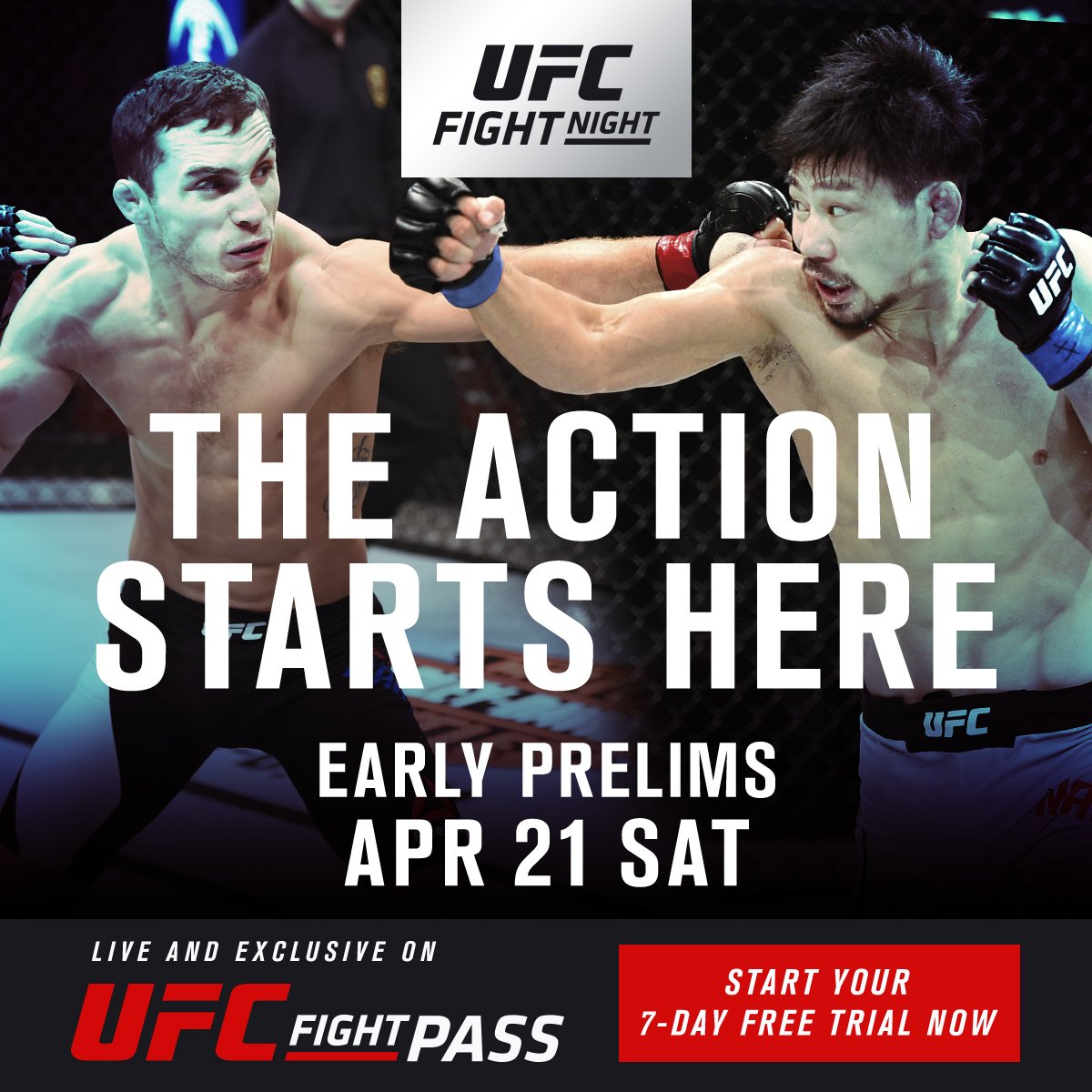 A new day, a new #UFCFIGHTPASS Featured Bout. @tmartinmma takes on @ktanakamura to kick off #UFCAC TOMORROW at 7:30PM | 4:30PM ETPT!
