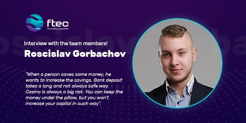 Interview with the team members!   Click on the link to read the interview with Roscislav Gorbachov, a member of the FTEC development team:  https:// goo.gl/2vzaMH  &nbsp;    #ICO #BTC #ETH #Technology #Invest #Trading #Bot #Crypto #Cryptocurrency #Tradingbot #Finance #Investments<br>http://pic.twitter.com/VYWMoTSmJG