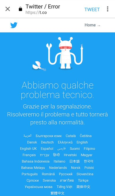 #TwitterDown Photo