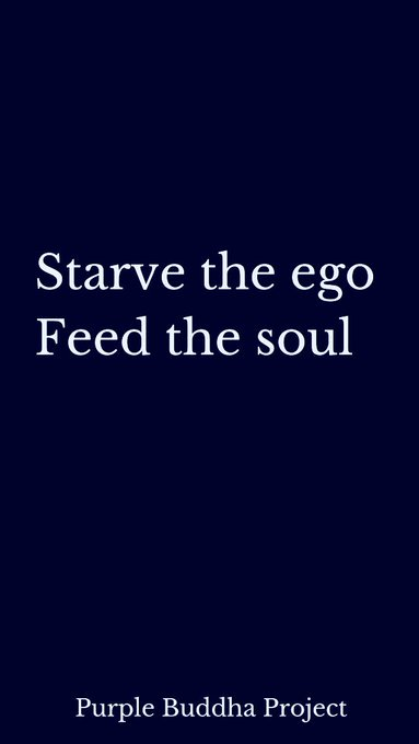 Starve the ego Feed the #soul  via @lovehappiness__   #ThinkBIGSundayWithMarsha #InspireThemRetweetTuesday #Life #JoyTrain #IQRTG #Love  #FridayFeeling #SaturdayMotivation #SuperSoulSunday #MondayMotivation #TuesdayThoughts<br>http://pic.twitter.com/bMPufBwxKy
