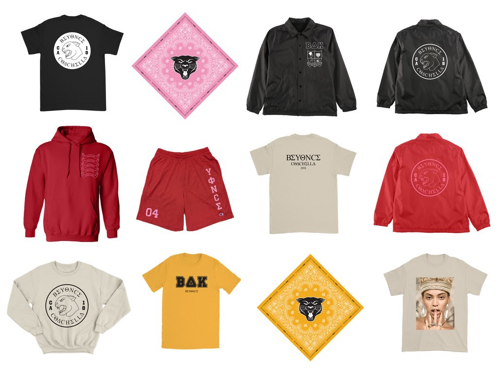 The #Beychella merch collection is now available for a limited time!  Shop: https://t.co/w2qn6qxDA8 https://t.co/BWWUM5OUe1