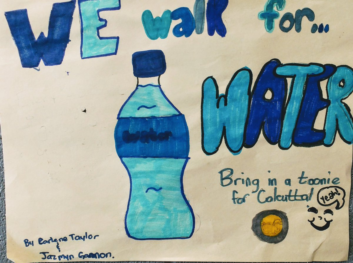 Much appreciation to all for the success of the #WEWalkForWater campaign.  Our goal was $25 from each of the 23 classes ($575 or 23 people with access to clean water for life).  Goal achieved and SURPASSED!  Stay tuned Monday... @WEMovement @WECDSB  #Changemakers <br>http://pic.twitter.com/fLrAr3yVTT