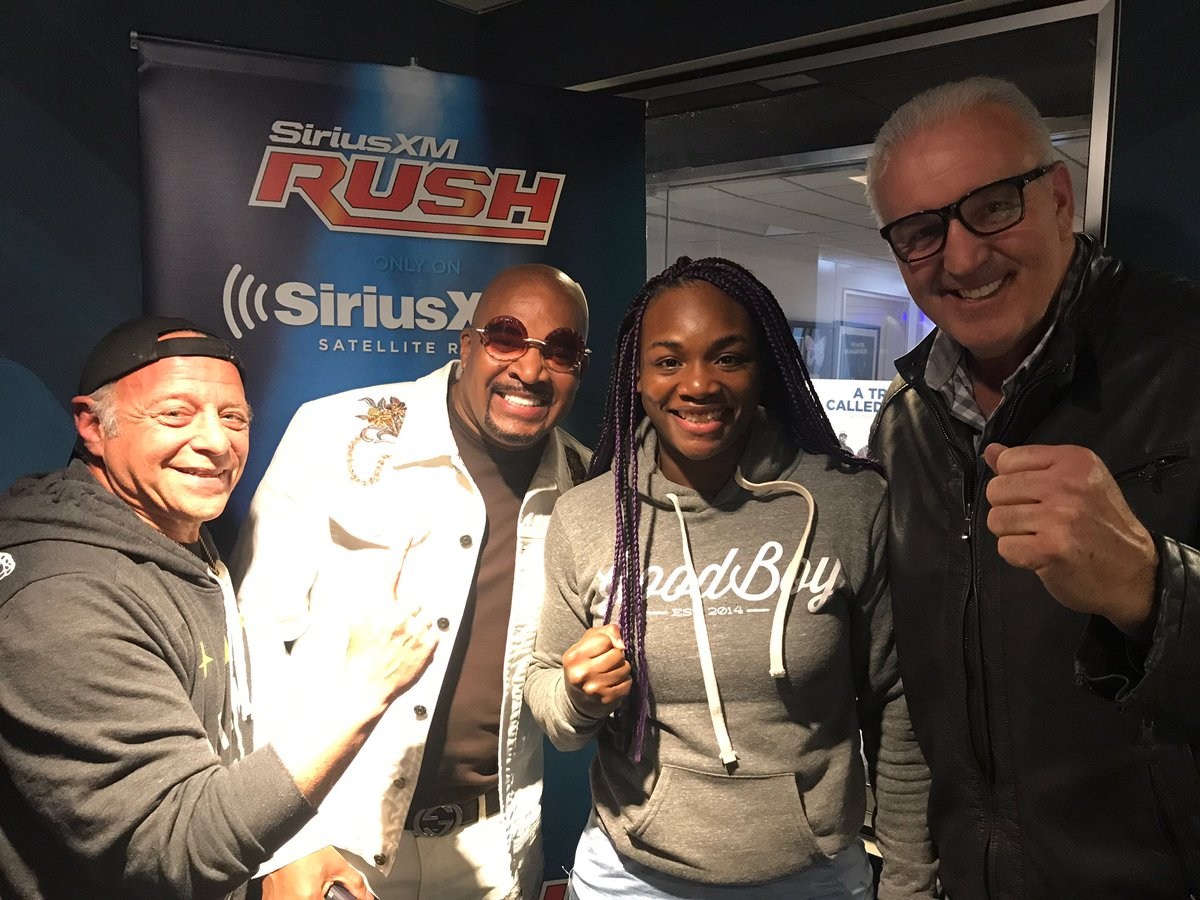 test Twitter Media - What do you get when @Claressashields & @LEllerbe get together on @SiriusXMBoxing? Fight negotiations! 👊🏾#ThisIsBoxing https://t.co/UzdD7XPE11