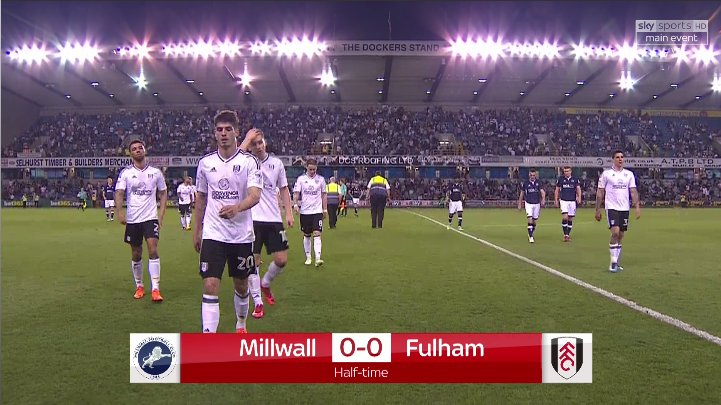 HALF-TIME: Still no goals between @MillwallFC and @FulhamFC after an entertaining first-half!  Watch live on Sky Sports Football NOW or follow the @SkyBetChamp clash here: bit.ly/2qT48Wf