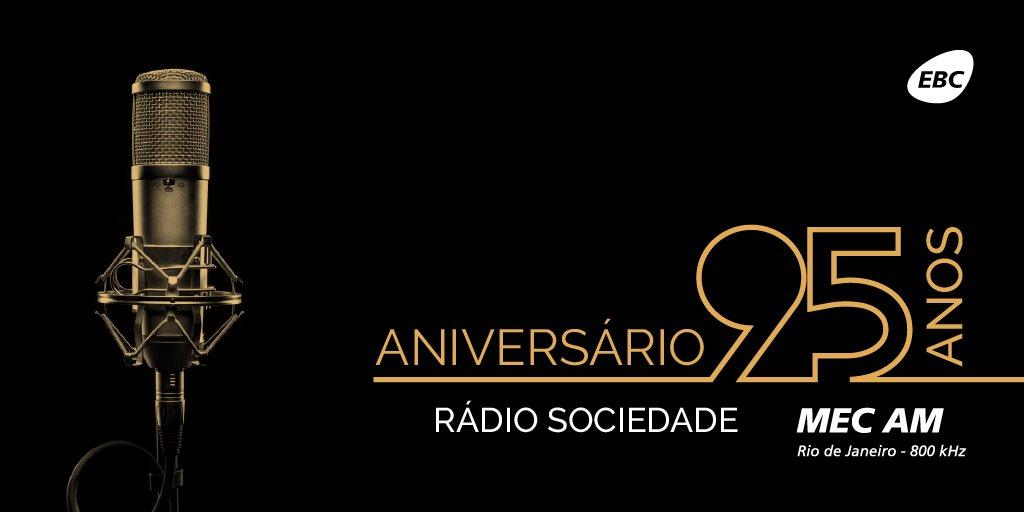 🎉  Em 20 de abril de 1923, foi fundada a 1ª rádio oficial do país: a Rádio Sociedade do Rio de Janeiro! Hoje, ela é a Rádio MEC AM e continua funcionando com força total. Saiba+: https://t.co/taEs0CNZDh
