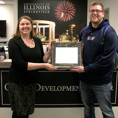 RT @UISCareerCenter: Congratulations to Brock who will be graduating in May, he was the first winner of our diploma frame drawing!!  You st…
