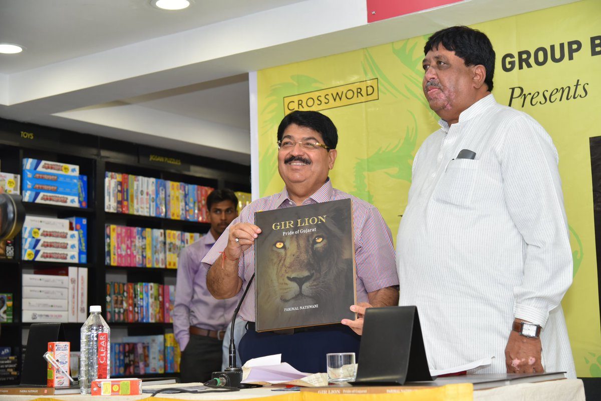 Parimal Nathwani written 'Gir Lion : Pride of Gujarat' book launched in Ahmedabad
