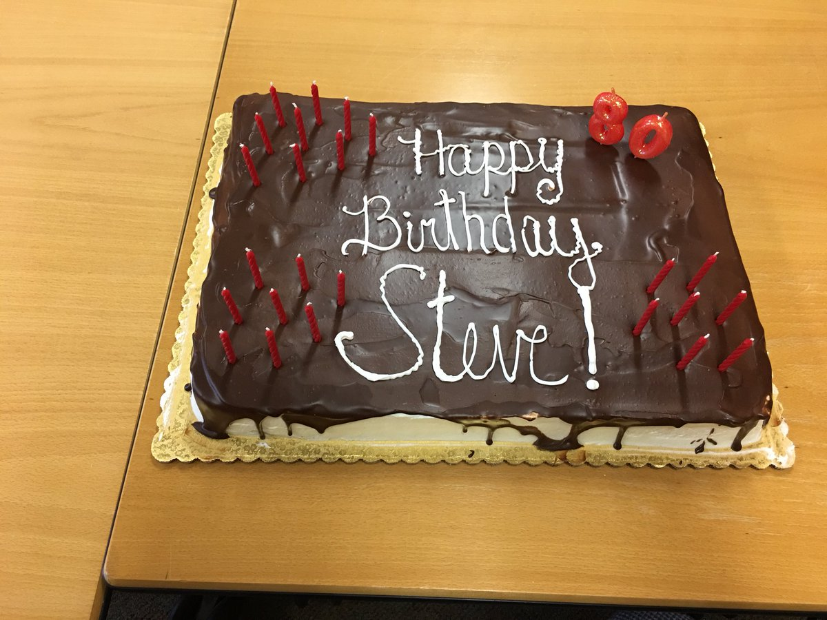 Andrew Patterson On Twitter Happy Birthday Steve Its Always A Pleasure To Talk Science And Learn From You Are True Inspiration Us All