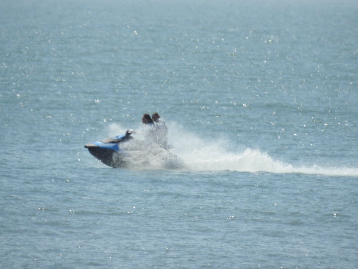 Rachel had the jet ski out today ! #heat...