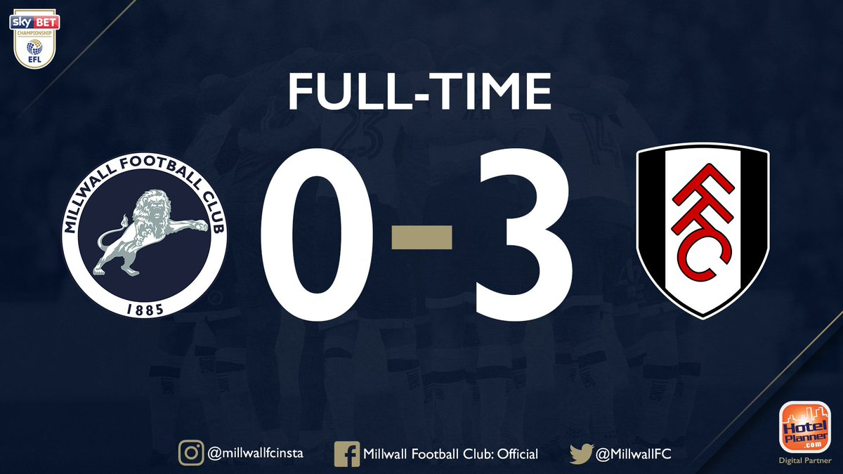 #Millwalls 17-match unbeaten run comes to an end after three-second half goals by Fulham seals victory