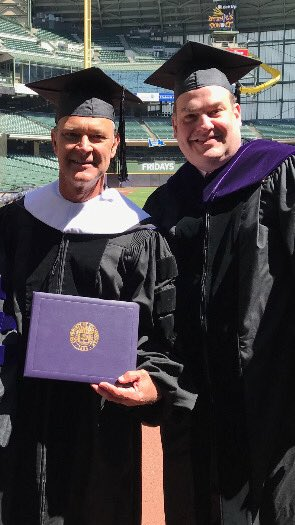 Bill Rasmussen spent his day conferring an Honorary Degree on Don Mattingly...  How's your Friday going?
