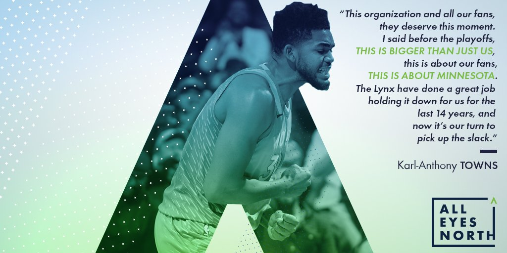 This is about Minnesota.  #AllEyesNorth