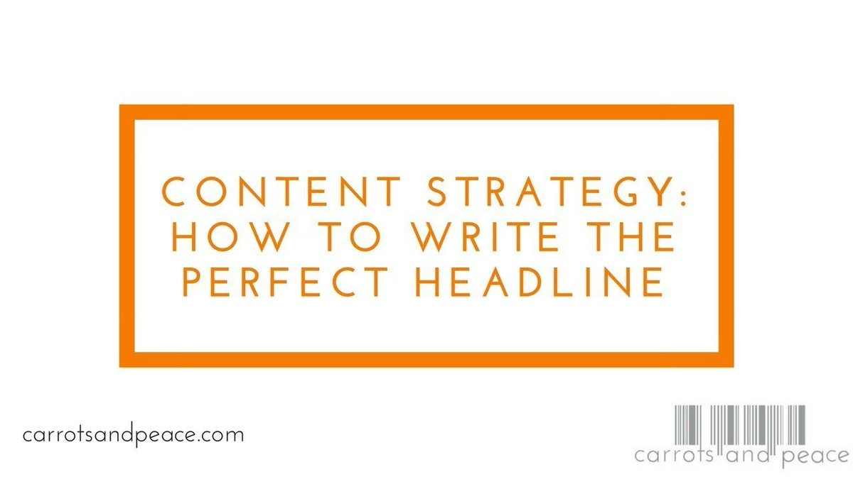 Everything is a headline. Email subjects, tweets, video titles, snap/story captions. Let's talk about the key to writing a good headline.  https:// buff.ly/2HjbH2J  &nbsp;   #ContentMarketing #ContentStrategy <br>http://pic.twitter.com/vEpPCtHCmr