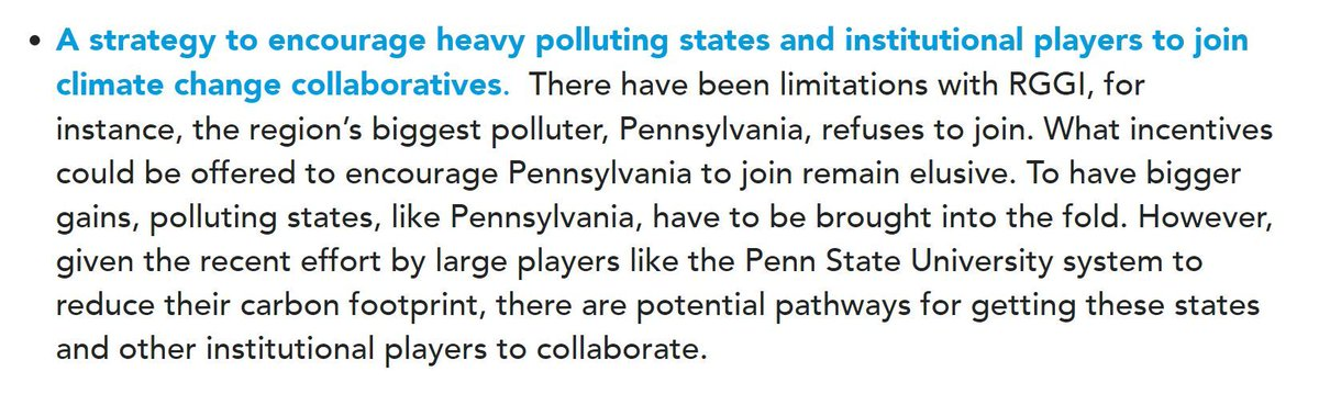 One key to building sustainable regional collaboratives to combat #climatechange is finding ways to encourage heavy polluting states and institutions to participate.  More from our roadmap for combating climate change without the federal government: https://t.co/wayTziL61t