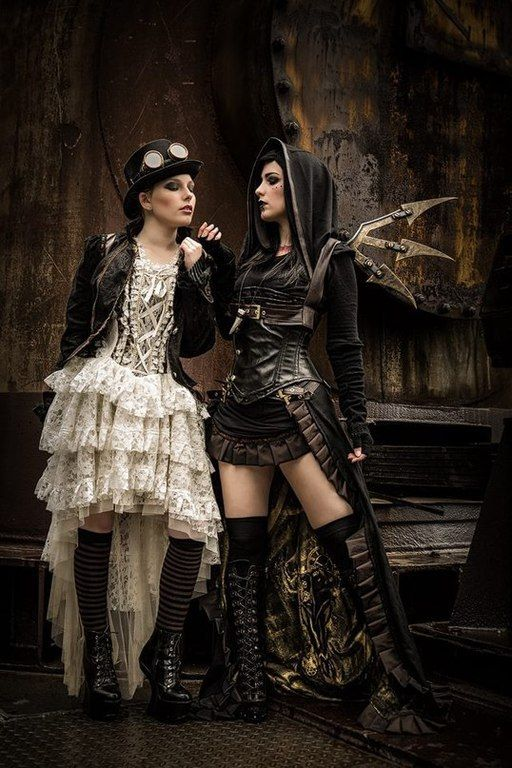 #steampunk #dieselpunk #two #girl