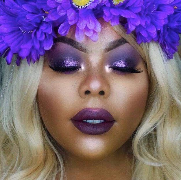 Leave all the purple emojis for @makeupbyshanshan (from IG) for blessing us with this glorious #festival look! 💜☔️☯️😈// Product used: All Nighter Foundation in shade 8.75 #UrbanDecay
